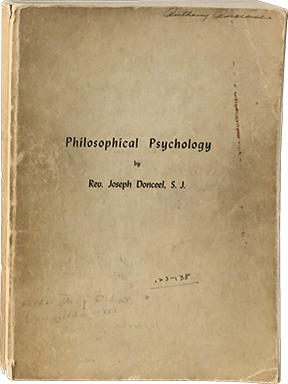 Philosophical Psychology. Rev. Joseph Donceel
