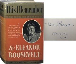 This I Remember. Eleanor Roosevelt